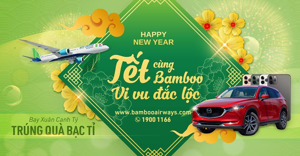 Banner Vé Máy bay Tết Bamboo