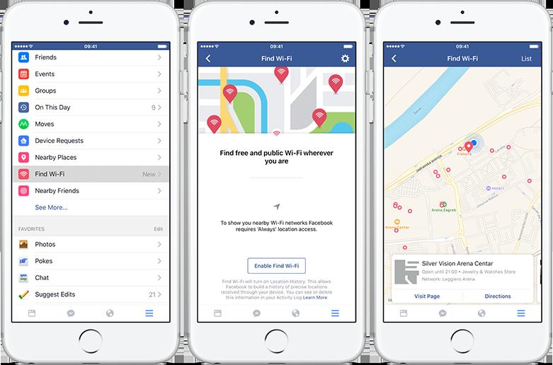 Cách tìm điểm phát WiFi trên ứng dụng Facebook - hinh 1
