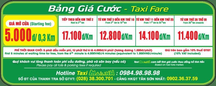 Bảng giá cước Taxi Mai Linh - hinh 5