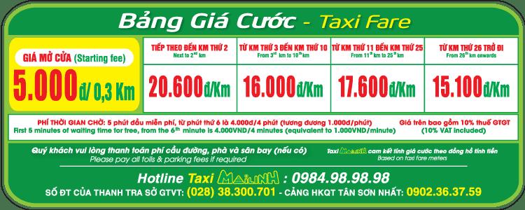 Bảng giá cước Taxi Mai Linh - hinh 4