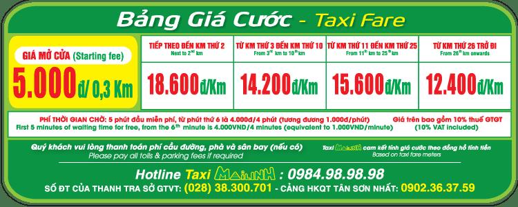 Bảng giá cước Taxi Mai Linh - hinh 3
