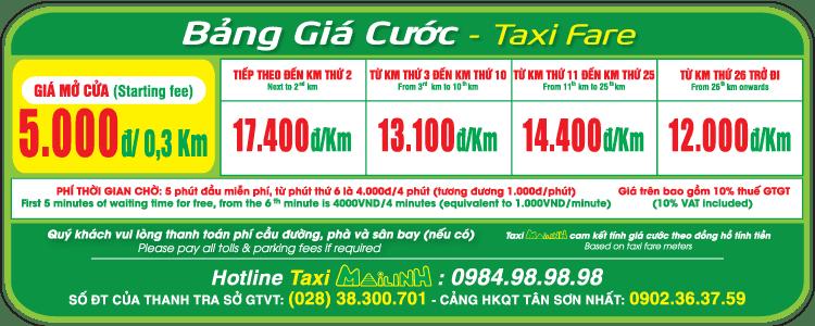 Bảng giá cước Taxi Mai Linh - hinh 2