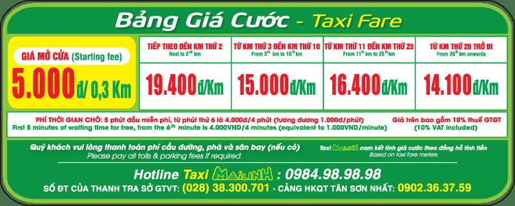 Bảng giá cước Taxi Mai Linh - hinh 1
