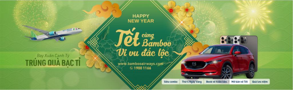 Banner Bamboo Airways mở bán vé máy bay tết
