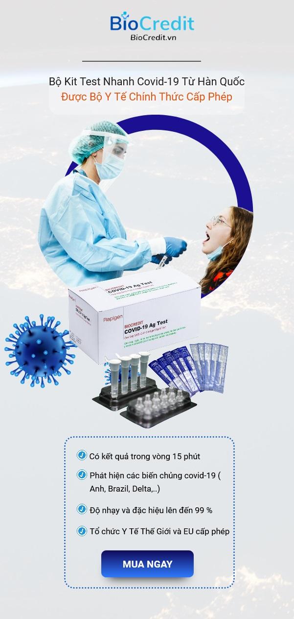 Bộ Kit Test Covid BioCredit