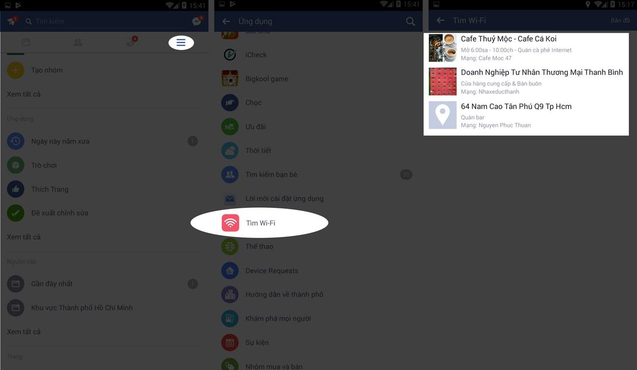 Cách tìm điểm phát WiFi trên ứng dụng Facebook - hinh 4