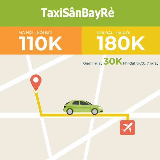 Ưu đãi đặt taxi sân bay Nội Bài