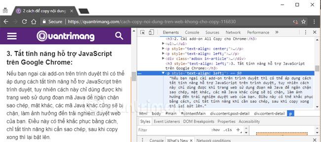 Mẹo để copy nội dung trên trang web không cho copy - hinh 3