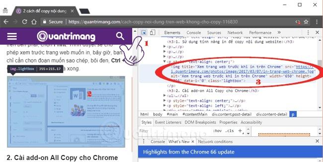 Mẹo để copy nội dung trên trang web không cho copy