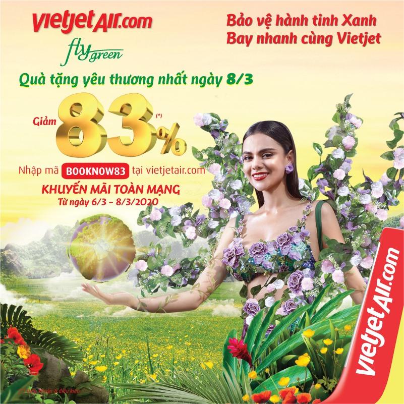 Vietjet Air gửi tặng bạn quà tặng yêu thương nhất ngày 8/3