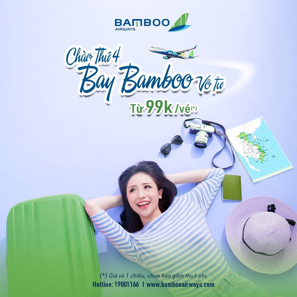 TỪ 99K(*) THẢ GA VI VU CÙNG BAMBOO AIRWAYS