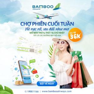 vé 36k - Chợ phiên cuối tuần cùng Bamboo Airways