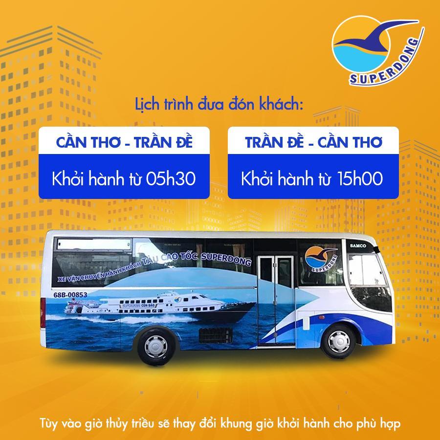 Superdong chính thức đưa vào hoạt động tuyến xe trung chuyển Cần Thơ – Trần Đề - hinh02