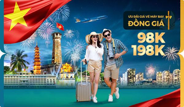 ✈️ Đồng giá nội địa 98K, 198K – [Vietnam Airlines]