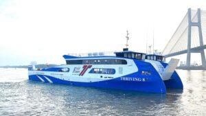 Khai trương phà biển Cần Giờ - Vũng Tàu chạy trước Tết Dương lịch